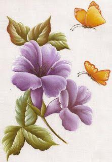 Mais Riscos e Amostras de Flores da Raquel para pintar
