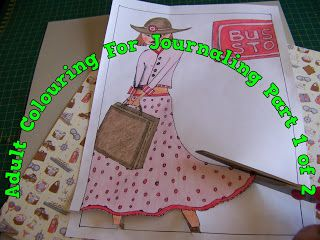 A Pretty Talent Blog: Travel Journaling: Using Your Adult Colouring Pictures Part 1