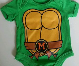 Dress your offspring like the pint sized warrior that he is with the Ninja Turtles onesie. Each onesie features an adorable little shell on the back and comes available in four distinct styles, so you can choose your favorite Ninja Turtle or alternate between all four.