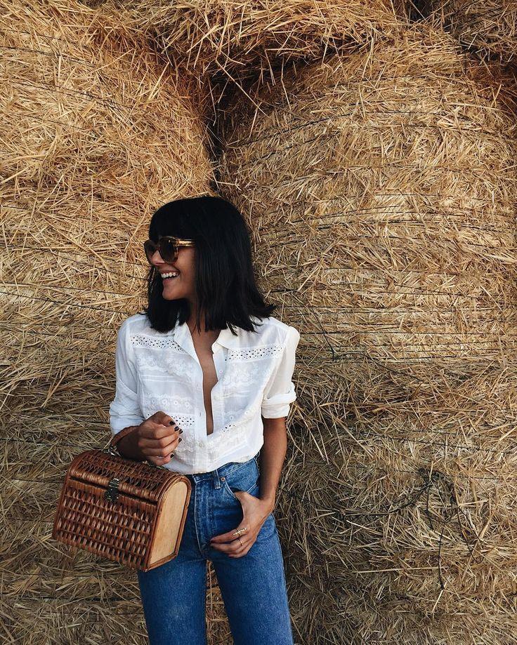 Eyelet blouse. Birkin vibes.