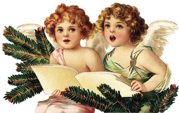 Glanzbilder - Victorian Die Cut - Victorian Scrap - Tube Victorienne - Glansbilleder - Plaatjes : Weihnachtsengel - Christmas Angel - Ange de Noël - Glanzbild - Victorian Die Cut - tube victorienne - Victorian Scrap - clipart