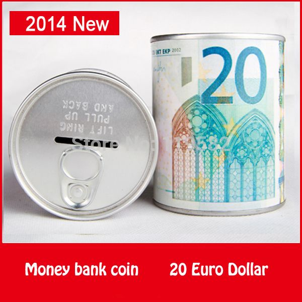 20 Euro France Dollar Design Coin Money Bank Store Metal Pen Holder Functions Money Coin Bank >>> Want to know more, click on the image. #HomeDecor