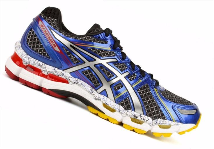 Asics Gel Kayano 19 Men  T342N 9091  Size 12.5  Black/Lightning/Blue RUNNING #ASICS #RunningCrossTraining