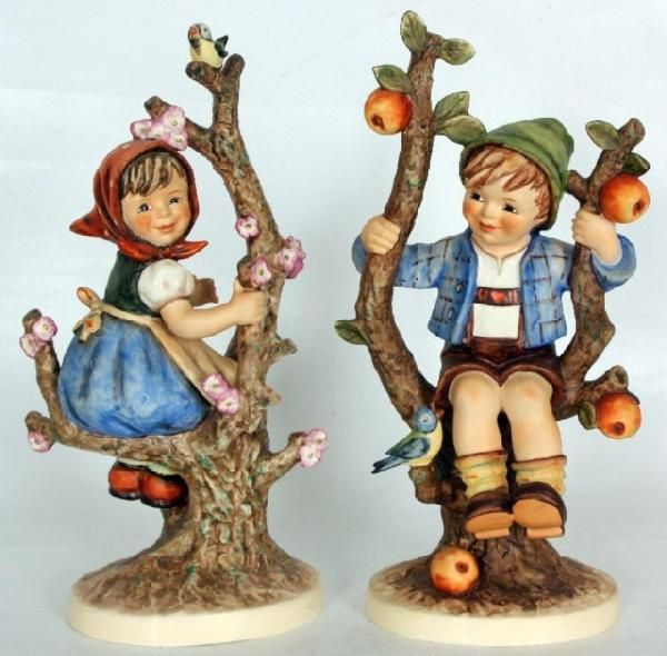 hummel figurines apple tree boy and girl