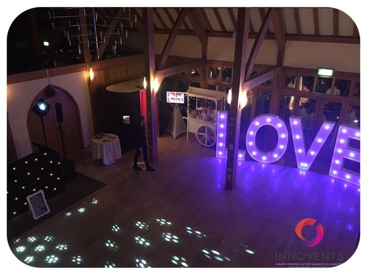 All Set Up And Ready To Go At Rivervale Barn For A Lovely Winter Wedding