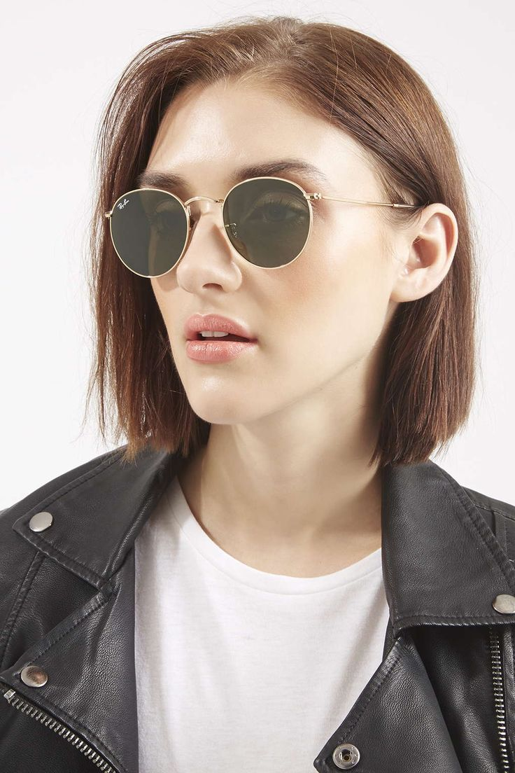 Opt for iconic style with the Arista round metal sunglasses. Features crystal green lens, comfy nose pads and hook-around arms.