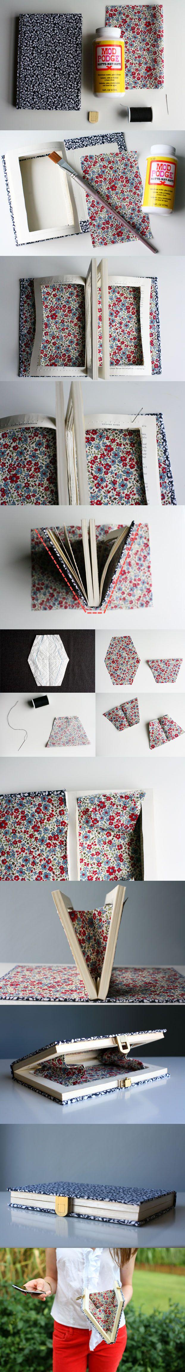 Muy Ingenioso Estuche o bolso de mano reciclando un libro - Muy Ingenioso