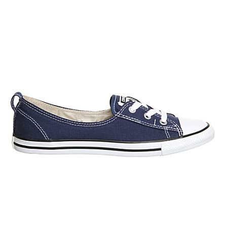 CONVERSE Ctas Lace-Up Ballet Flat Trainers. #converse #shoes #trainers