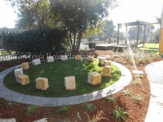 "A ""yarning circle"" in the revamped playspace,                U.C. Grantham Heights, Seven Hills,  Sydney, New South Wales. Info here https://harlaxtonss.eq.edu.au/Supportandresources/Formsanddocuments/Documents/yarning-circles.pdf  https://8ways.wikispaces.com/+Teaching+through+culture  https://www.qcaa.qld.edu.au/downloads/approach/indigenous_res_dialogue_circ.pdf"