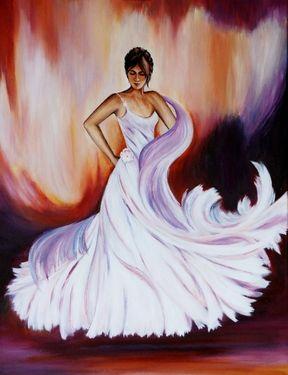 "Saatchi Art Artist Indira Mukherji; Painting, ""Flamenco Dancer"" #art"