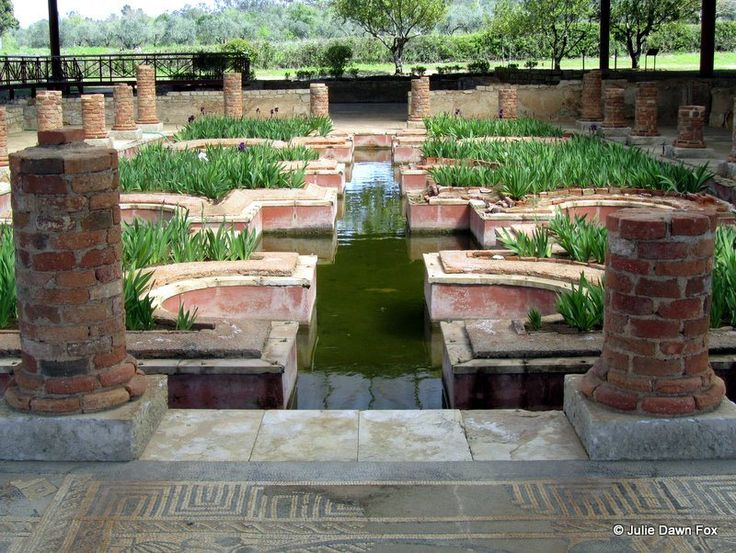 Interior gardens, Conimbriga, Portugal