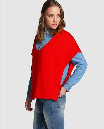 Jersey oversize de mujer Naf Naf en rojo