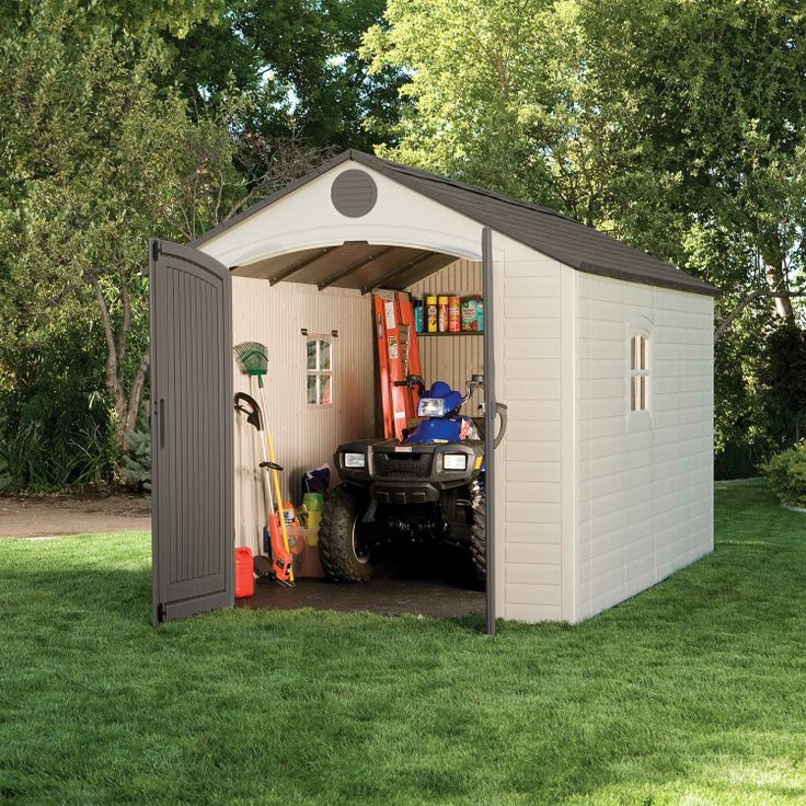 outdoor storage sheds shop with confidence deck boxes and more your lawn is no longer an obstacle course sears has large sheds for your backyard save - Garden Sheds 5 X 9