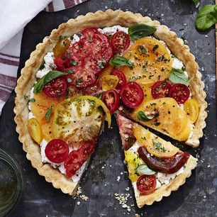 Heirloom Tomato Tart with Ricotta and Basil | Williams-Sonoma Taste