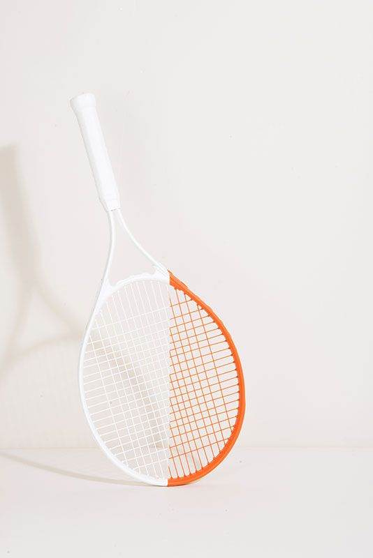 White and orange tennis.