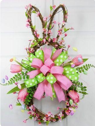 Easter bunny wreath
