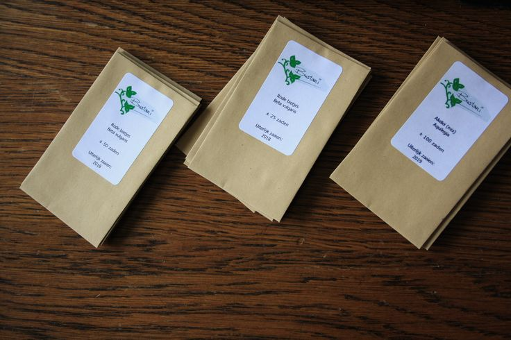 De nieuwe zadenzakjes en etiketten!