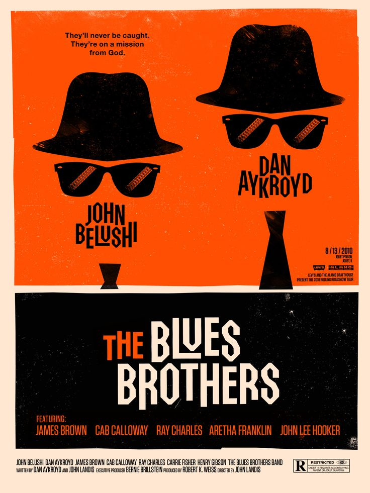 The Blues Brothers 1980.  Jake & Elwood (Belushi & Aykroyd)  History was made...this is an hysterically funny movie with some of SNL's best actors!