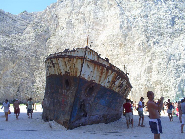 Navagio Beach, #Zakynthos #Greece