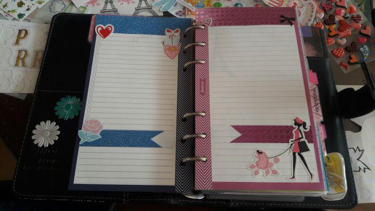 #filofax #filofaxing #diary #planner #diy #violet #iloveparis