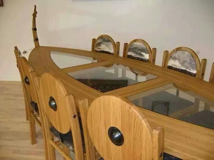 Viking table viking pinterest vikings and tables for Viking chair design