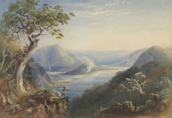 Hawkesbury River near Wisemans Ferry by Conrad Martens, 1801-1818, Courtesy of National Library of Australia