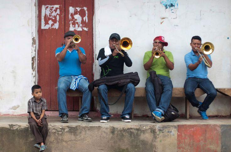Musicians play trumpets during celebrations in honor of San Juan Bautista (John the Baptist) in Nicaragua. (Oswaldo Rivas / REUTERS) http://pow.photos/2017/international-pow-27-june-3-july/