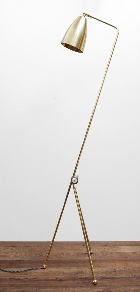 Mid Century Modern Solid Brass Grasshopper Floor by PhotonicStudio