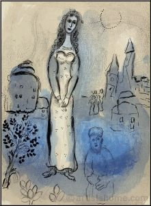 Marc Chagall: Esther, 1960, Original Lithograph for Verve Bible