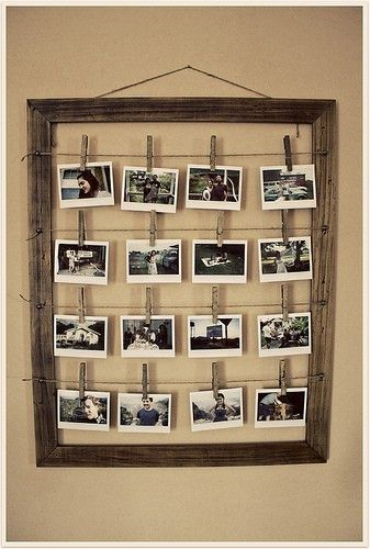 picture hanging idea: Decor, Photos, Ideas, Photo Display, Old Frames, Picture Frames, Diy, Pictures Frames, Display Photo