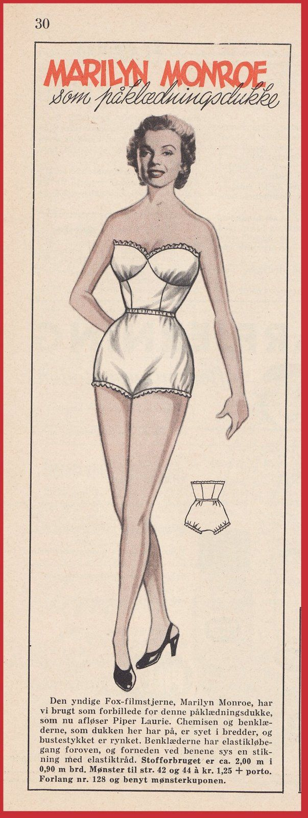 Marilyn Monroe paper doll. Paper dolls for Pinterest friends, 1500 free paper dolls at Arielle Gabriel's International Paper Doll Society.
