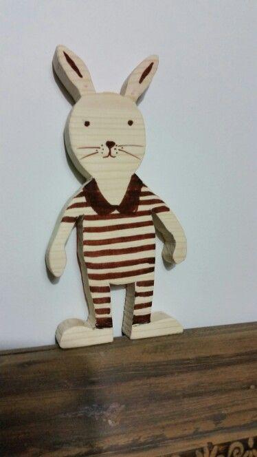 Wood toy rabbit