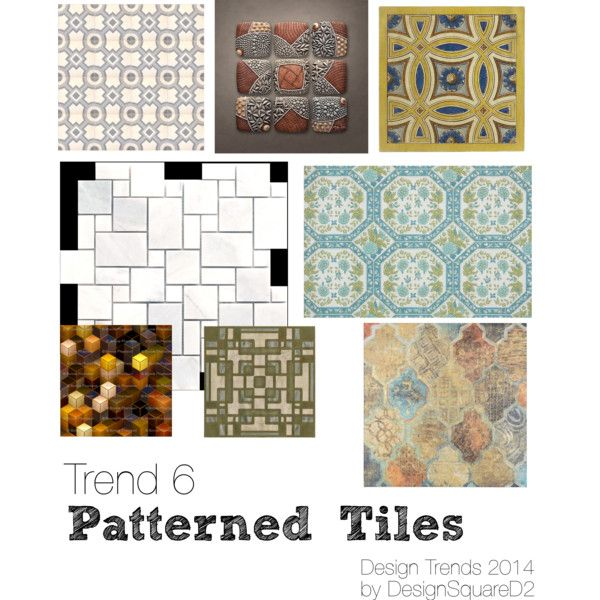 """Trend 6 Patterned tiles"" by design2square on Polyvore"