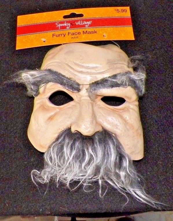 Spooky Village Furry Face Mask - Adult Size - Brand NEW w/Tag #SpookyVillage