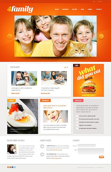 4family Family Drupal Templates by Oldman