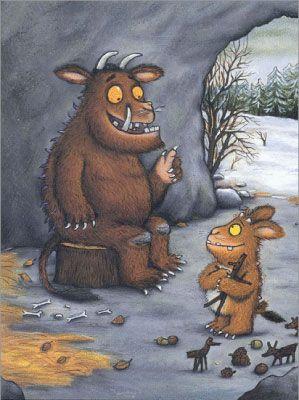 Het kind van de Gruffalo Het verhaal is het vervolg op het boek De Gruffalo. Hier vertelt de Gruffalo aan zijn kind over de Grote Gevaarlijke Muis. Hij is op het nippertje aan hem ontsnapt.