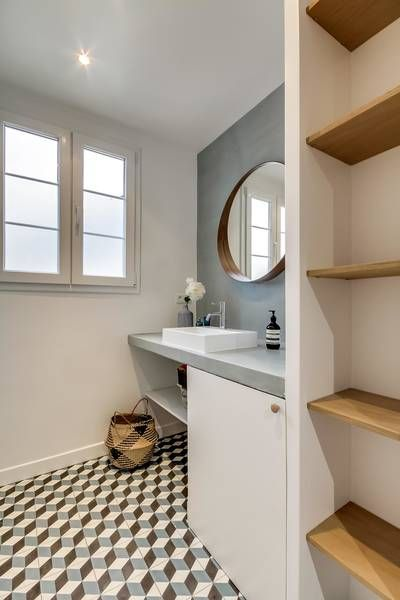 réalisations : Appartement de 50 m2 remis à neuf, Paris, Transition Interior Design