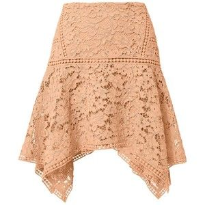 Veronica Beard Mujer Blush Lace falda asimétrica Hem
