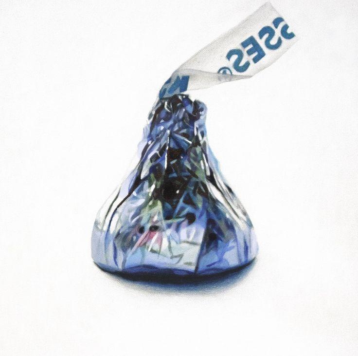 Kiss 1, Acrylic on canvas, 12 x 12 inches, 30 x 30 cm