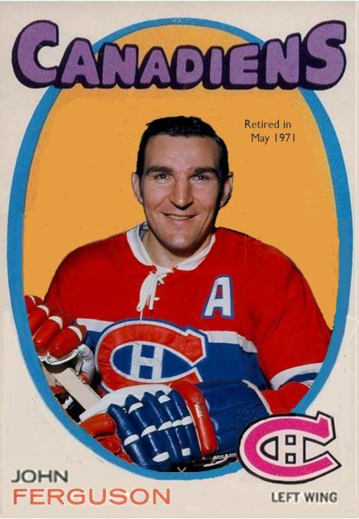 John Ferguson  -Canadiens - 1971-72- JJPrevost on Pinterest