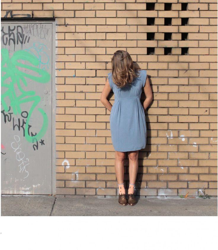 Cornflower Blue Cocktail Dress — Sunday Morning Designs