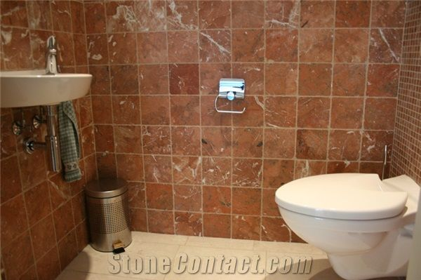 red bathroom tiles bathroom tile color rosa imperial marble bathroom 14116