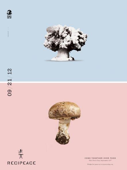 Recipeace: Mushroom cloudRecipeace, Leoburnett, Restaurants Food, Brand Design, Graphics Design, Leo Burnett, Funny Commercials, Posters, Prints Ads