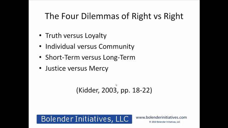 The Kidder Overview of Understanding Ethics Part 1