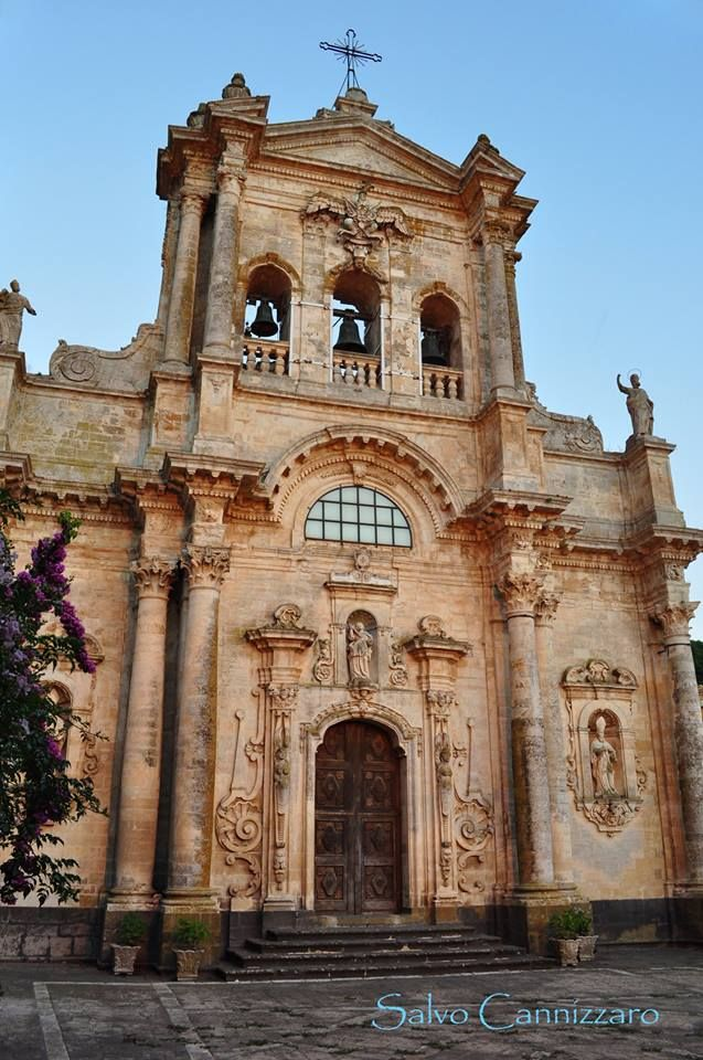 Buccheri, Siracusa - iglesia barroca de Santa María Magdalena Italia.