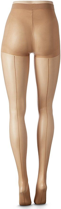 Nude 1920s to 1940s Berkshire Seamed Pantyhose Nylons Stockings $11.00 #Ad