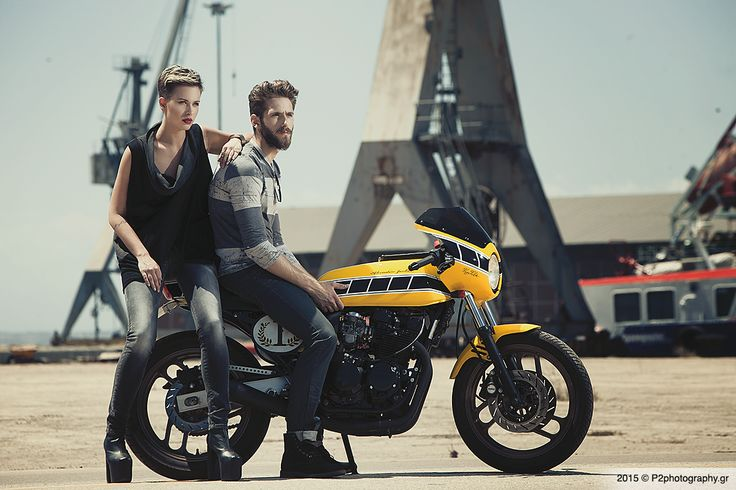 Our work: Edward Jeans AW 2014-15 Campaign young couple #motorcycle #p2photography #editorial #catalogue #fashion #EdwardJeans