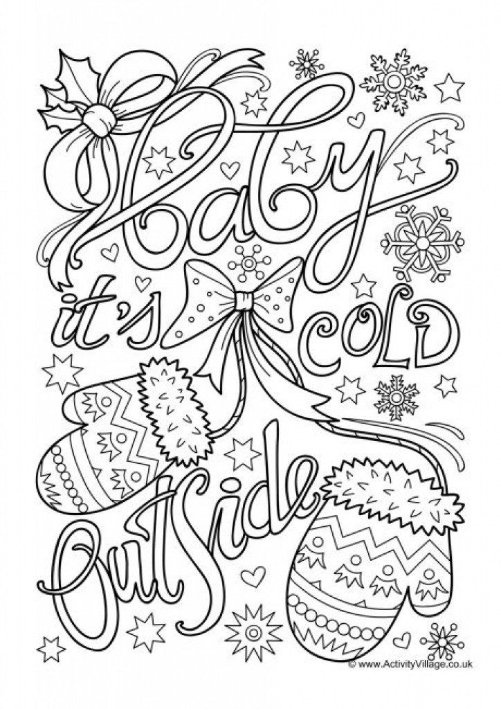 Winter Coloring Pages Coloring Pages Winter Merry Christmas