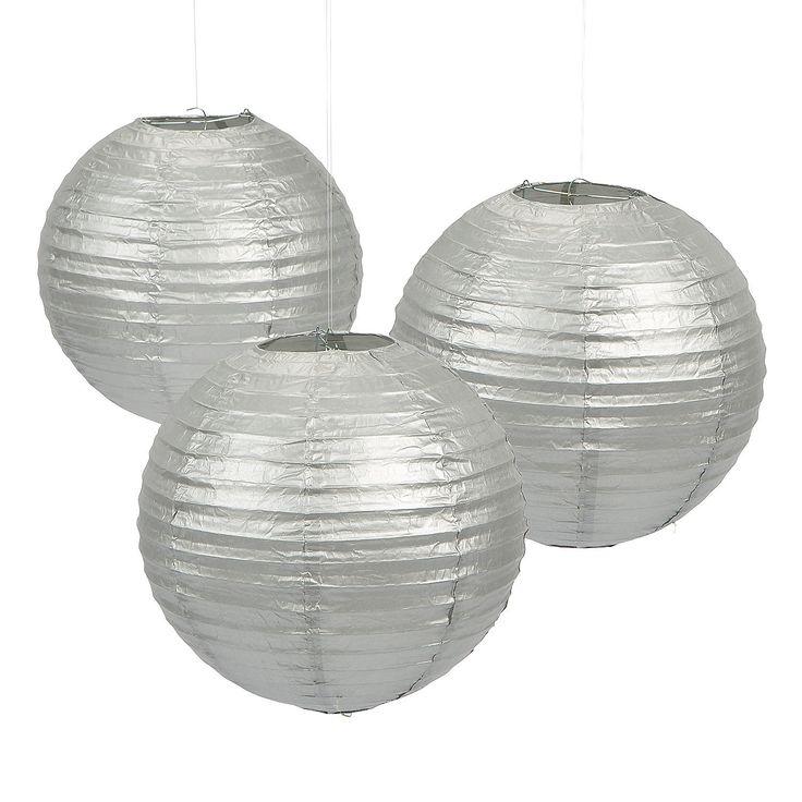 Silver+Paper+Lanterns+-+12+-+OrientalTrading.com