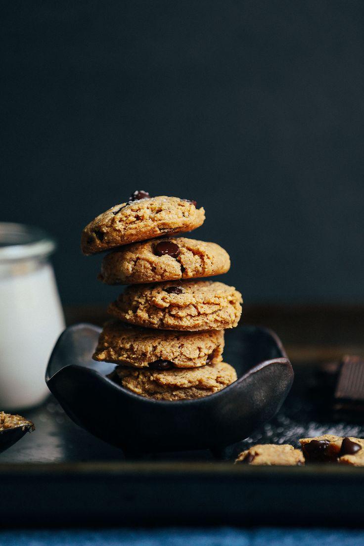 Fluffy Almond Butter &Almond flour Chocolate Chip Cookies | Minimalist Baker Recipes